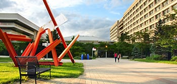 Exterior view of one of the many sculptures on York U's Keele campus