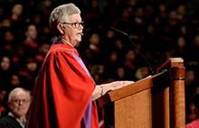 Everything to gain from community involvement, Wanda MacNevin tells grads