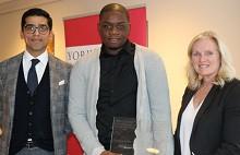 award winner with certificate