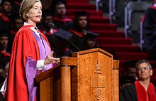 Honorary doctorate recipient Jennifer Doudna talks about learning to drive, ditches and research